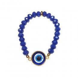 Pulseira Armazem RR Bijoux miçangas olho grego dourado