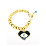 Pulseira Armazem RR Bijoux olho grego cristal Swarovski azul dourado