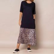 Vestido Armazem RR Closet Midi com Barrado Animal Print