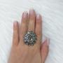 Anel Armazem RR Bijoux flor cristais