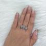 Anel Armazem RR Bijoux mini gotas cristal