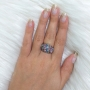 Anel Armazem RR Bijoux regulável cristais coloridos prata