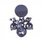 Brinco Armazem RR Bijoux com cristal e bolinhas grafite
