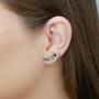 Brinco Armazem RR Bijoux Ear Cuff cristais grafite