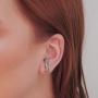 Brinco Armazém RR Bijoux Ear Hook Cristais Prata