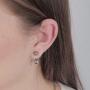 Brinco Armazem RR Bijoux Ear Jacket redondo prata