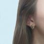 Brinco Armazem RR Bijoux gota cristais Swarovski dourado