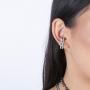 Brinco Armazem RR Ear Hook cristais grafite