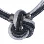 Colar Armazem RR Bijoux cordão preto e prata