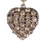 Colar Armazem RR Bijoux curto coração cravejados dourado