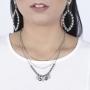 Colar Armazem RR Bijoux triplo bolinhas prata