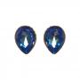 Maxi Brinco Armazem RR Bijoux cristal Swarovski gota azul dourado