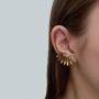 Maxi Brinco Armazem RR Bijoux ear cuff dourado