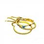 Mix de Pulseiras Armazem RR Bijoux cristais coloridos Swarovski dourado