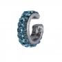 Piercing fake Armazem RR Bijoux critais azul grafite