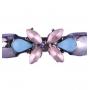 Pulseira Armazem RR Bijoux cordãobege cristais rosa e azul