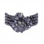 Pulseira Armazem RR Bijoux flor com cristais