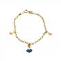 Pulseira Infantil Armazem RR Bijoux pingentes vestido dourado