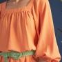 Vestido Armazém RR Closet Curto Decote Quadrado
