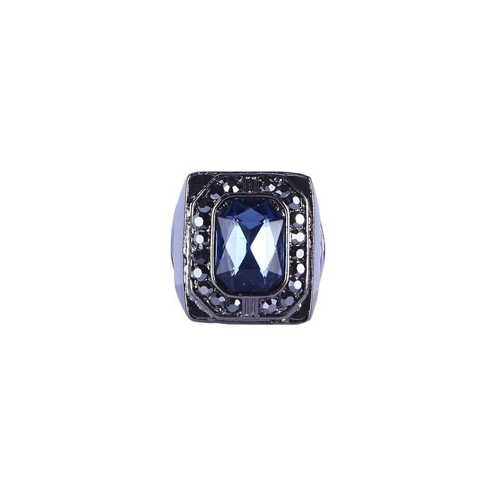 Anel Armazem RR Bijoux cristal azul escuro