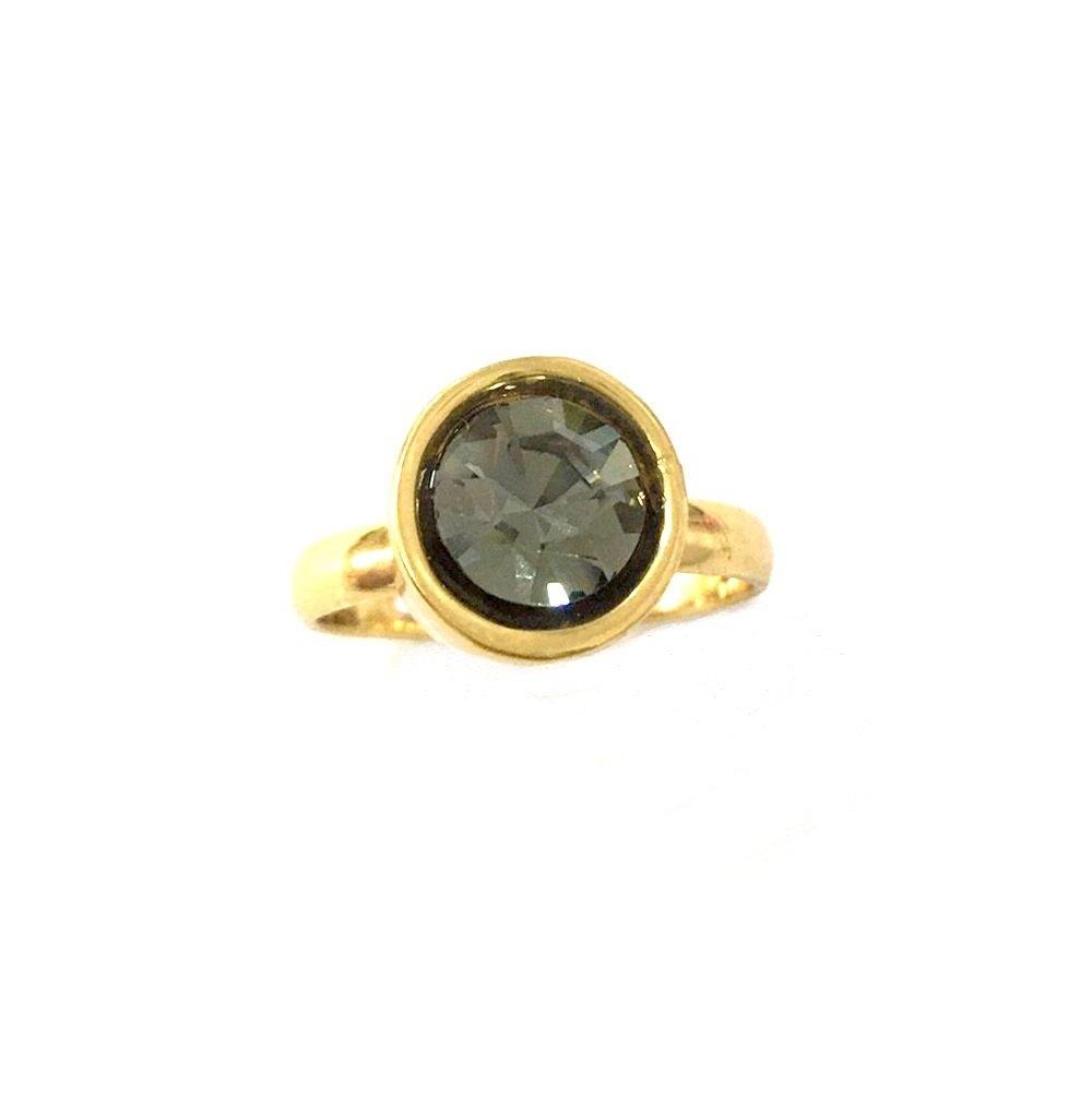 Anel Armazem RR Bijoux cristal swarovski dourado