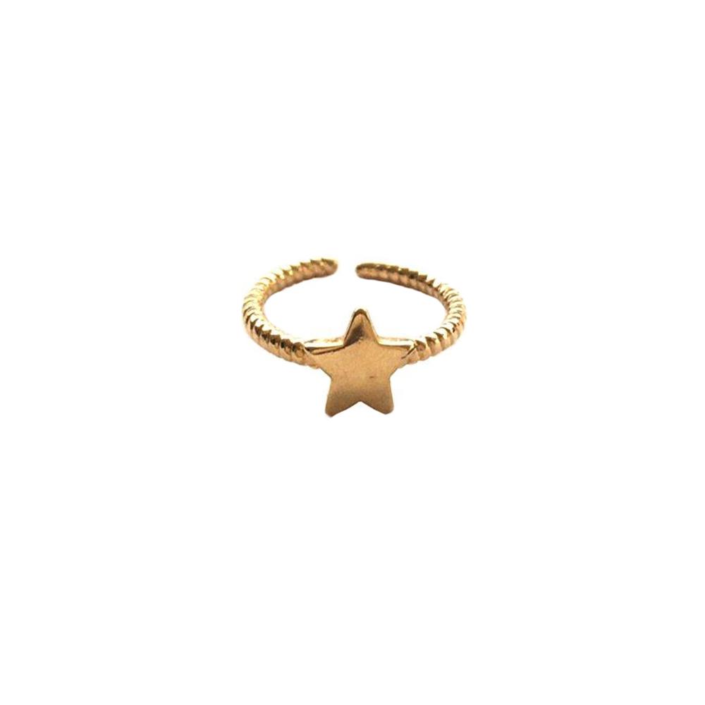 Anel Armazem RR Bijoux infantil estrela dourado