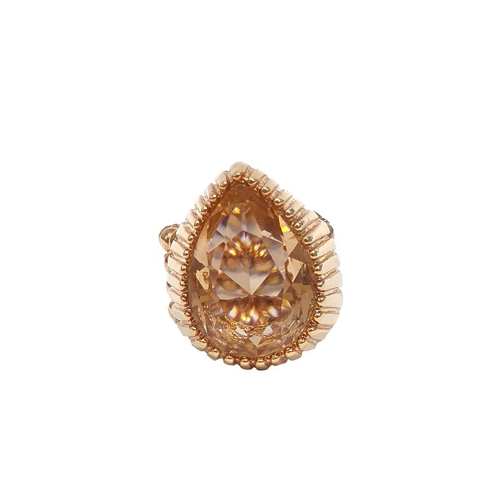 Anel Armazem RR Bijoux regulável pedra gota rose