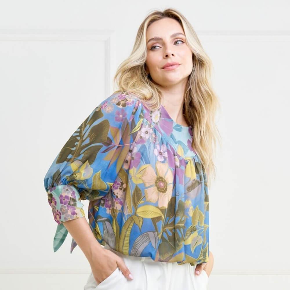 Blusa Armazém RR Closet Blusê Floral