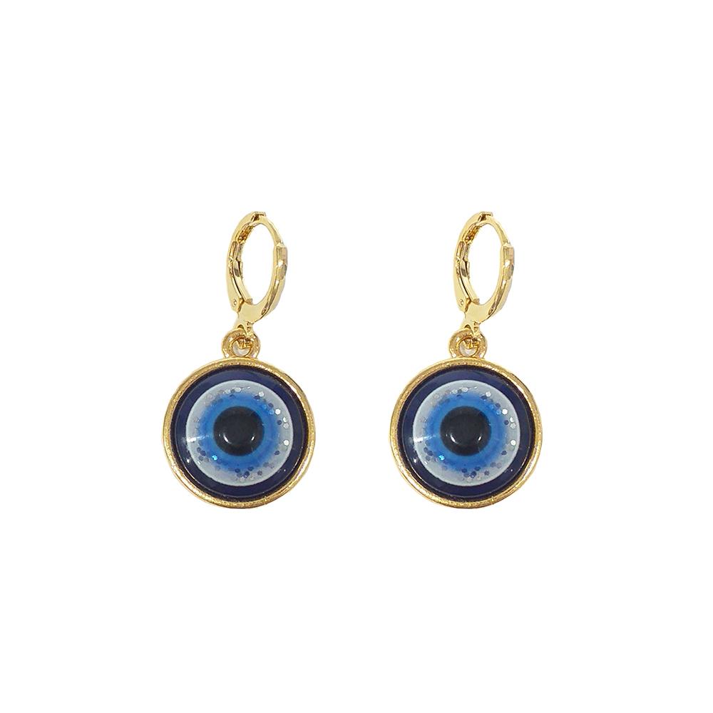 Brinco Armazem RR Bijoux argola olho grego dourado