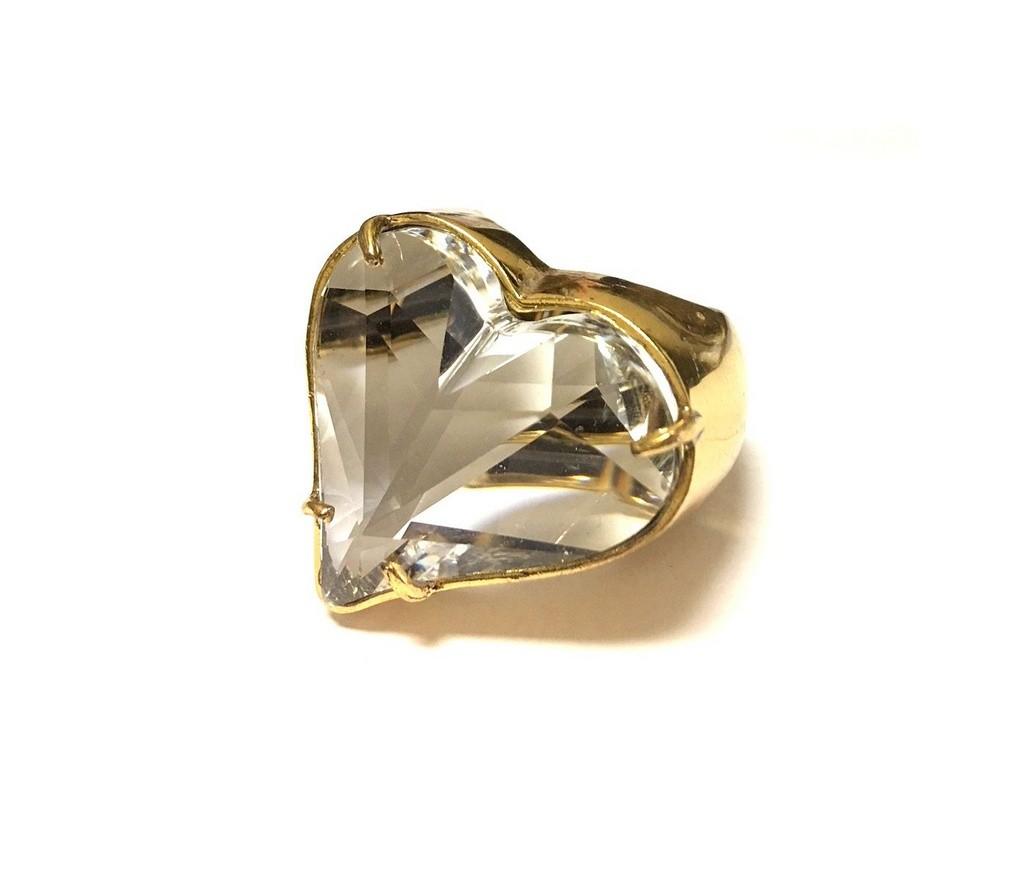 Anel Armazem RR Bijoux coração cristal swarovski