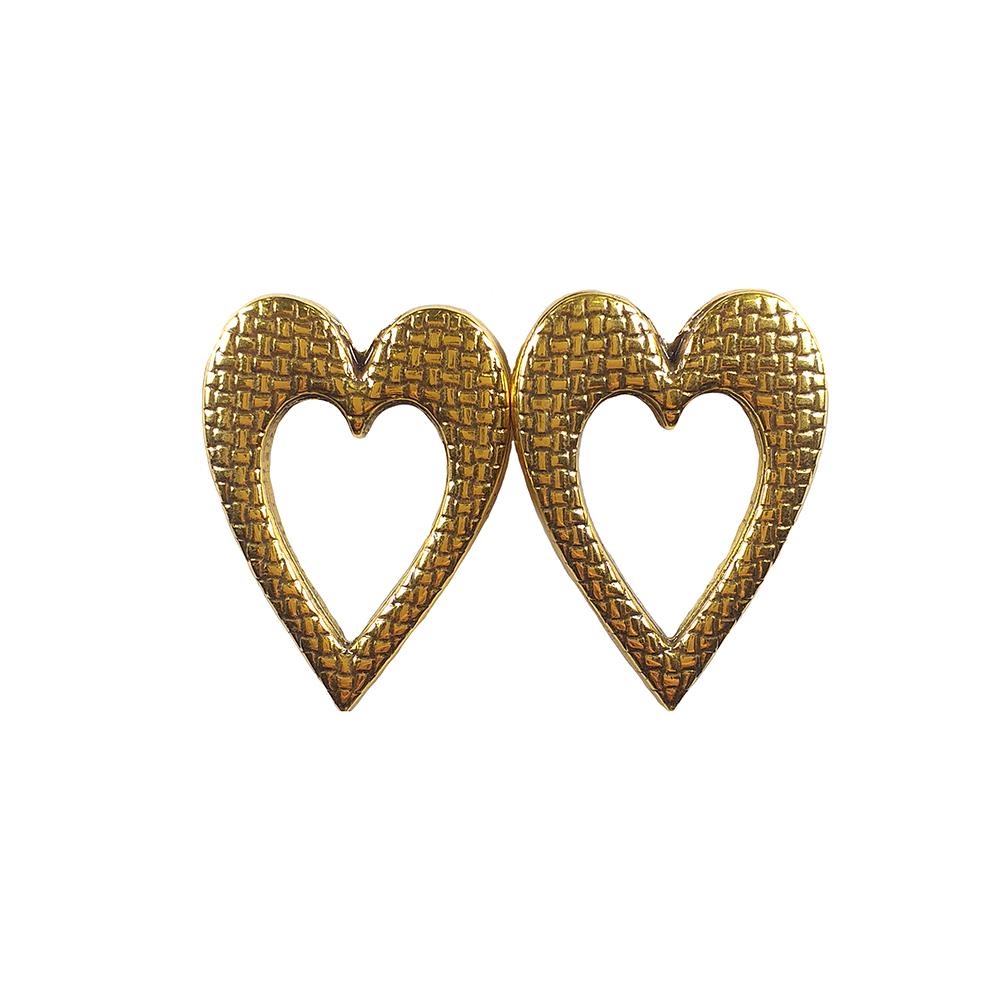 Brinco Armazem RR Bijoux coração dourado