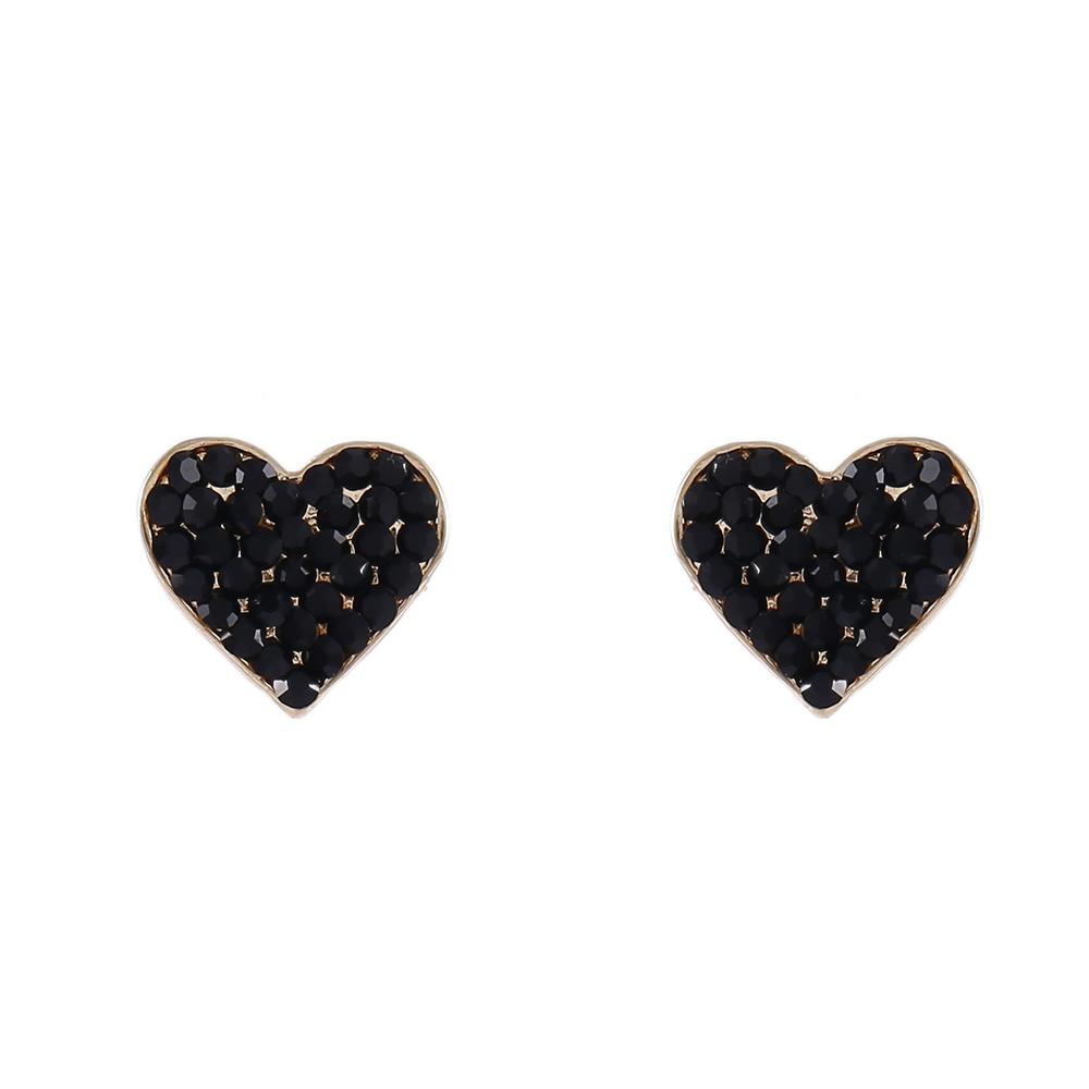 Brinco Armazem RR Bijoux cristais pretos dourado