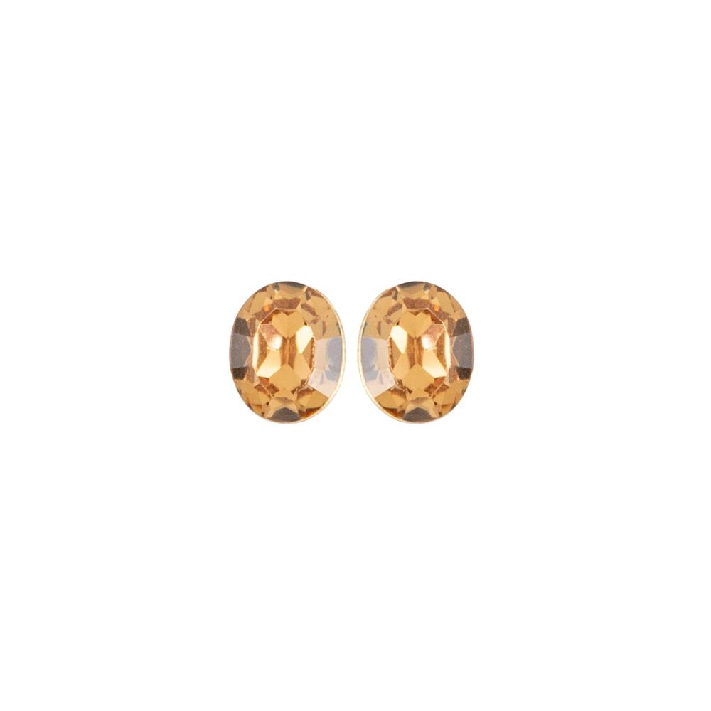 Brinco Armazem RR Bijoux cristal dourado