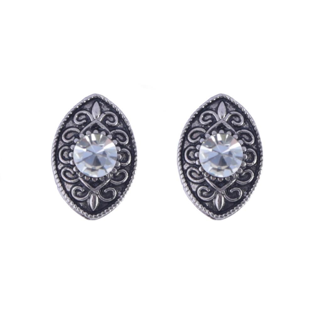 Brinco Armazem RR Bijoux cristal prata