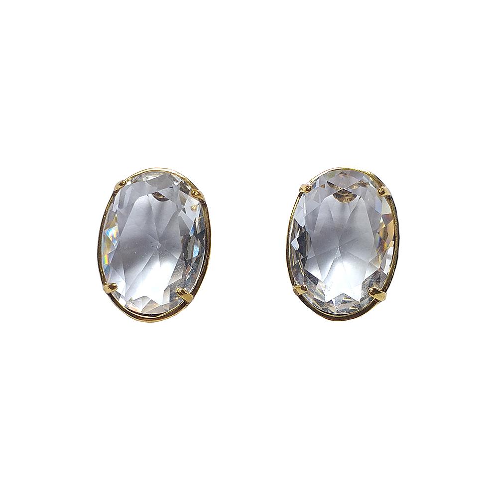 Brinco Armazem RR Bijoux cristal Swarovski dourado