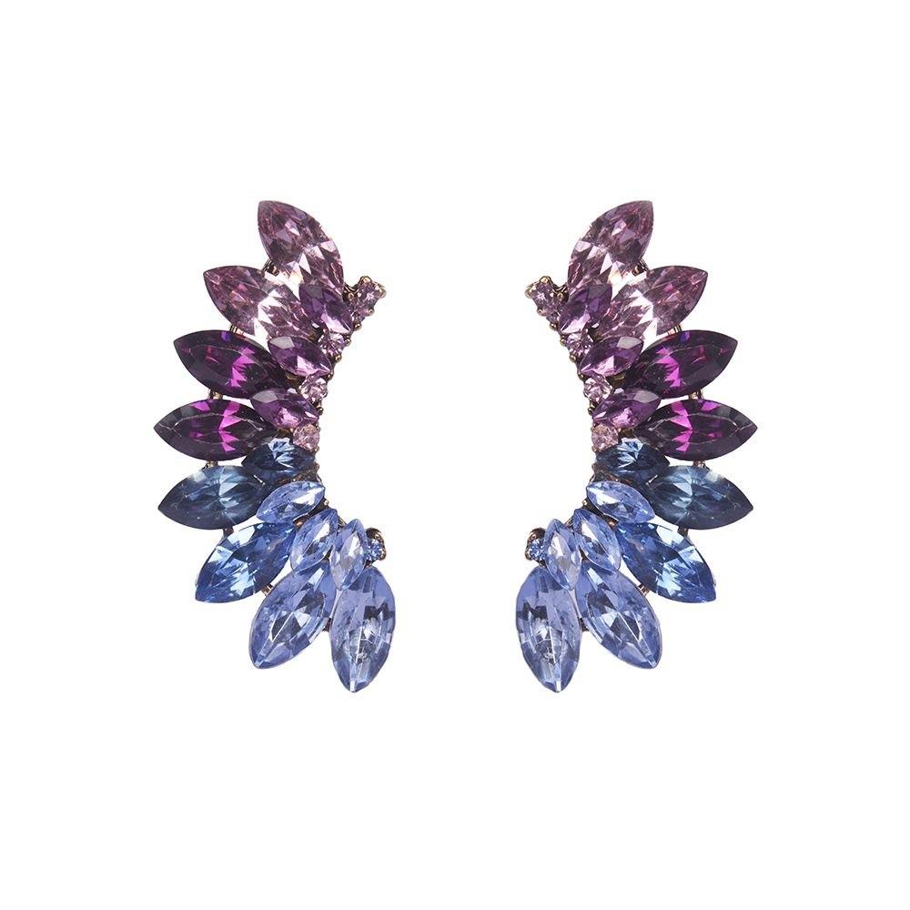 Brinco Armazem RR Bijoux ear cuff rosa e azul
