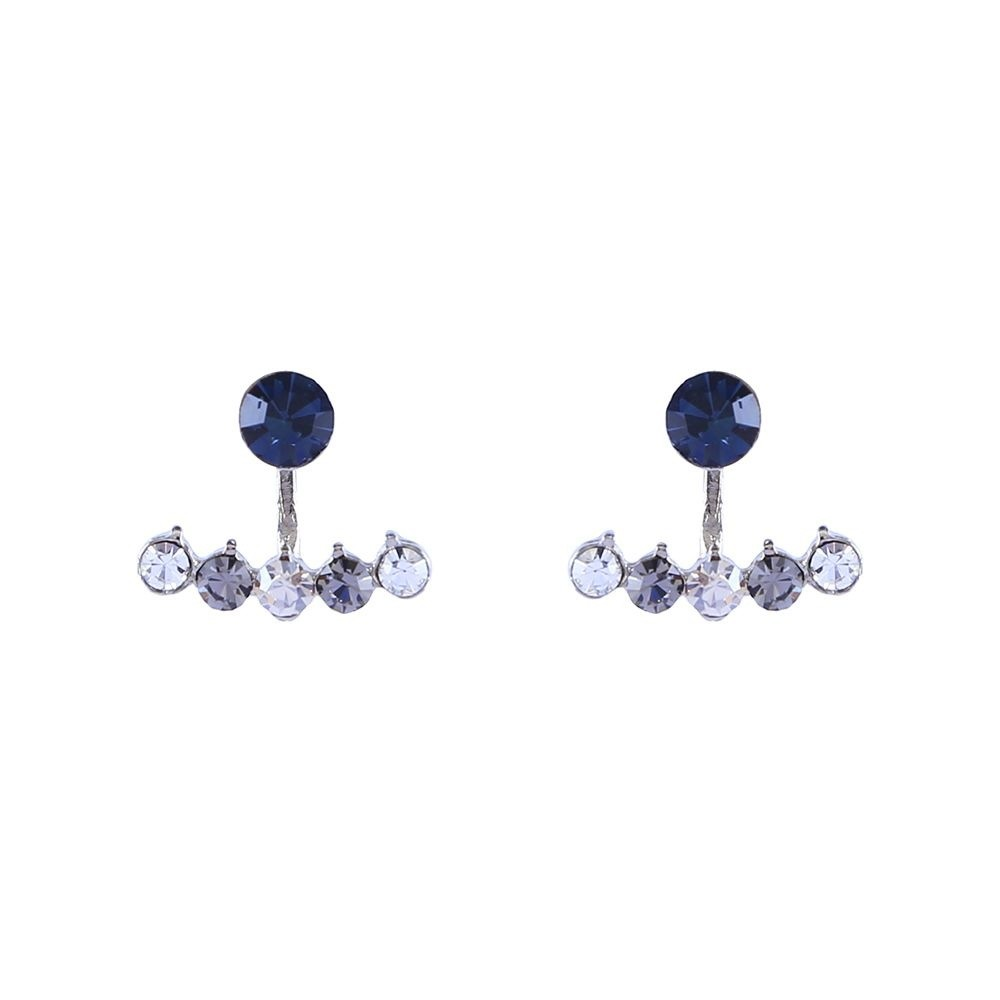 Brinco Armazem RR Bijoux ear jacket cristal azul