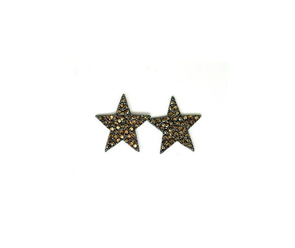 Brinco Armazem RR Bijoux swarovski estrela