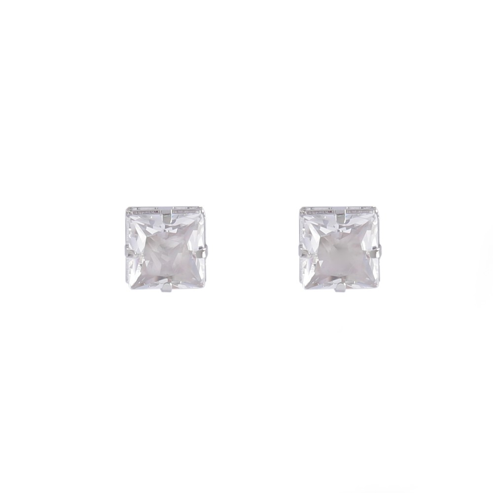 Brinco pequeno Armazem RR Bijoux cristal prata