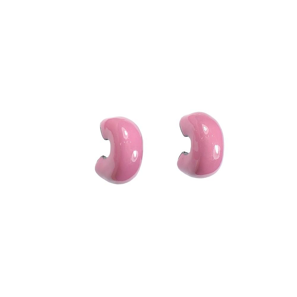 Brinco pequeno Armazem RR Bijoux pink grafite