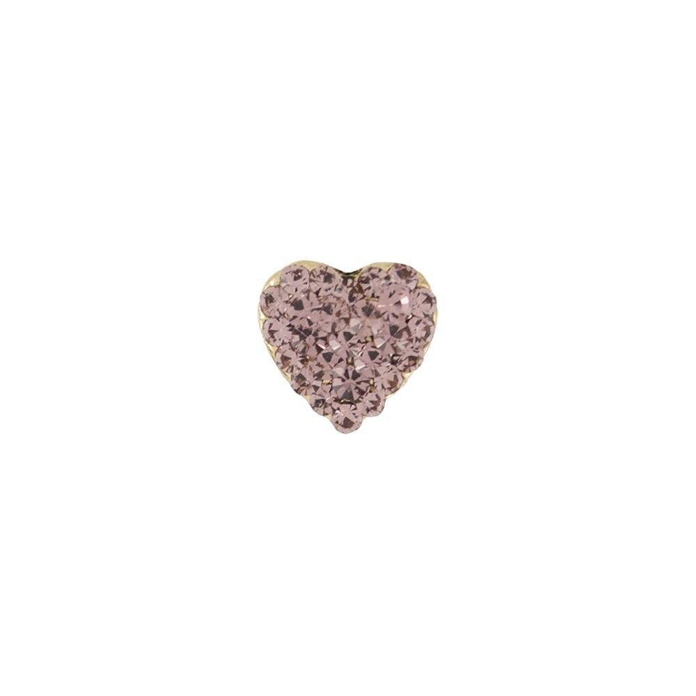 Broche Armazem RR Bijoux coração rosa