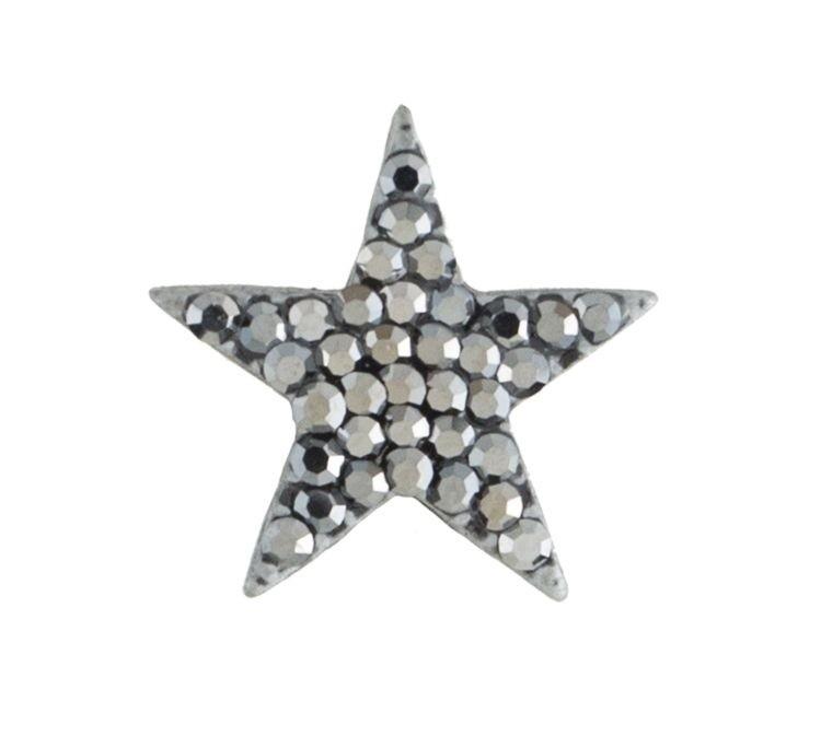Broche Armazem RR Bijoux estrela pequena grafite