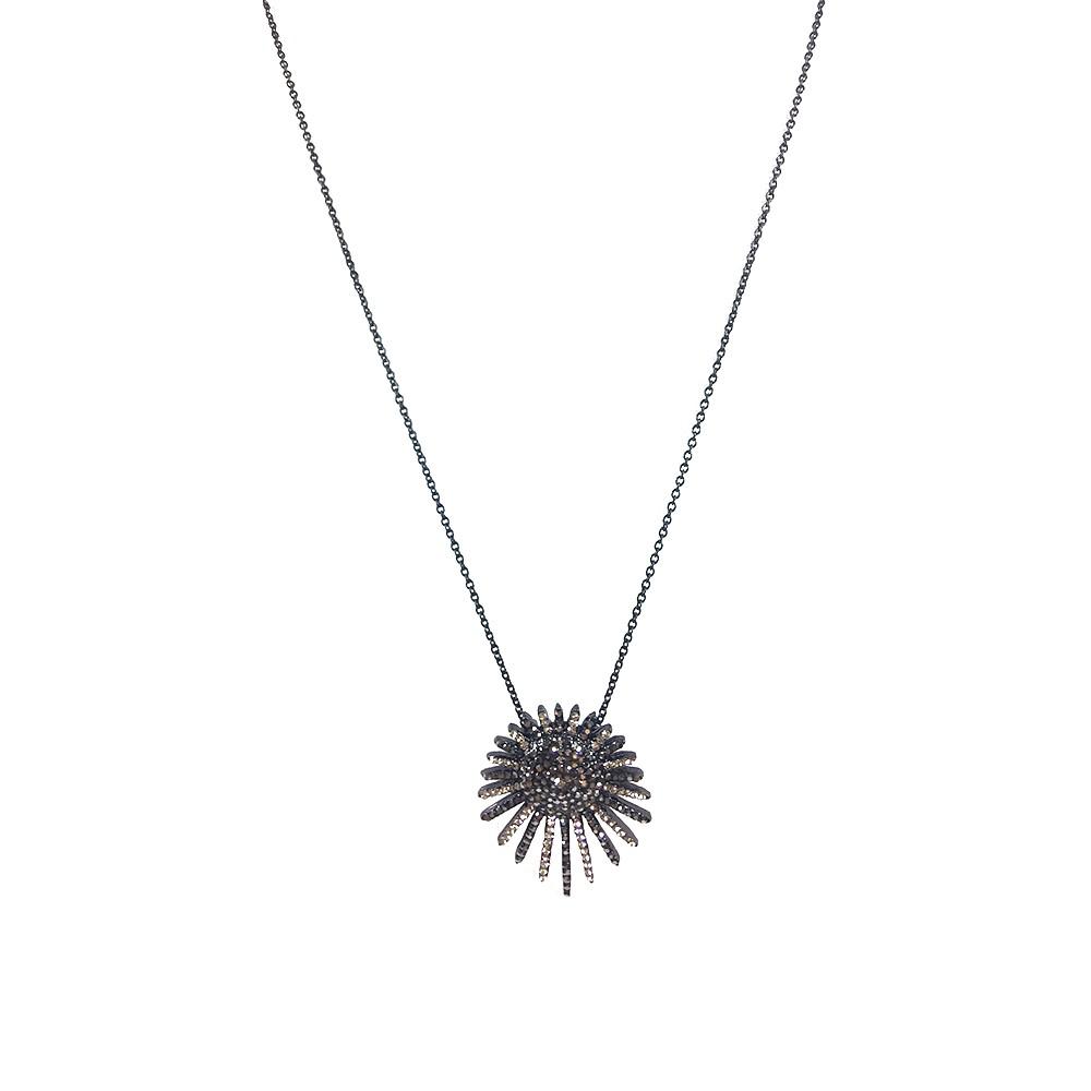 Colar Armazem RR Bijoux cristais cravejados preto