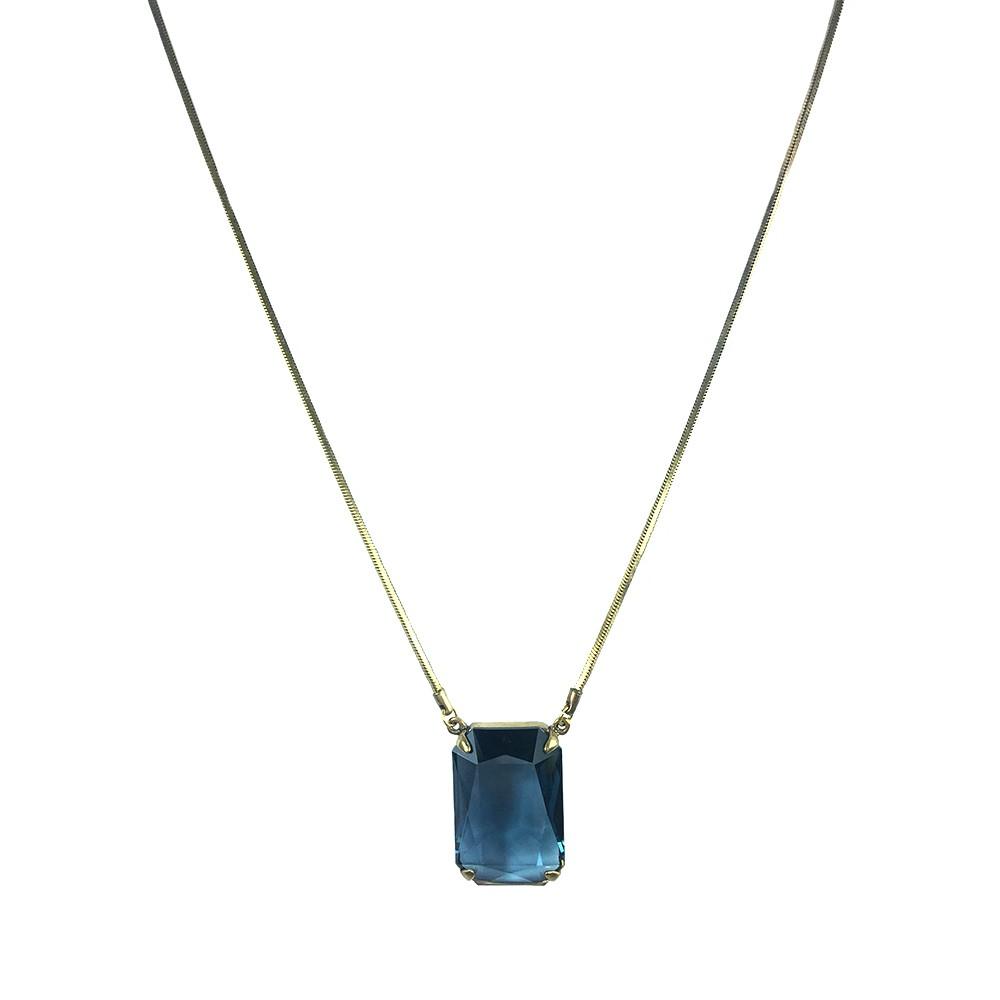 Colar Armazem RR Bijoux cristal swarovski azul