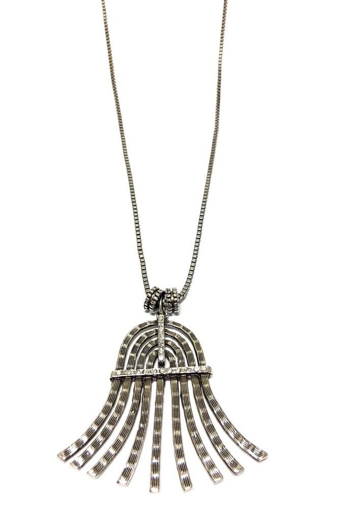 Colar Armazem RR Bijoux Cristal swarovski longo prata