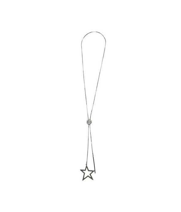 Colar Armazem RR Bijoux estrela cristais cravejados grafite
