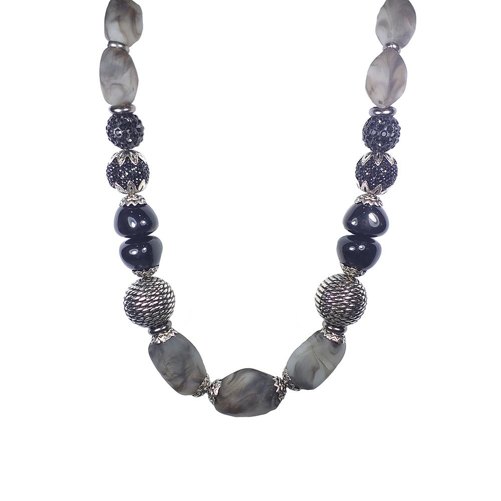 Colar Armazem RR Bijoux pedras prata