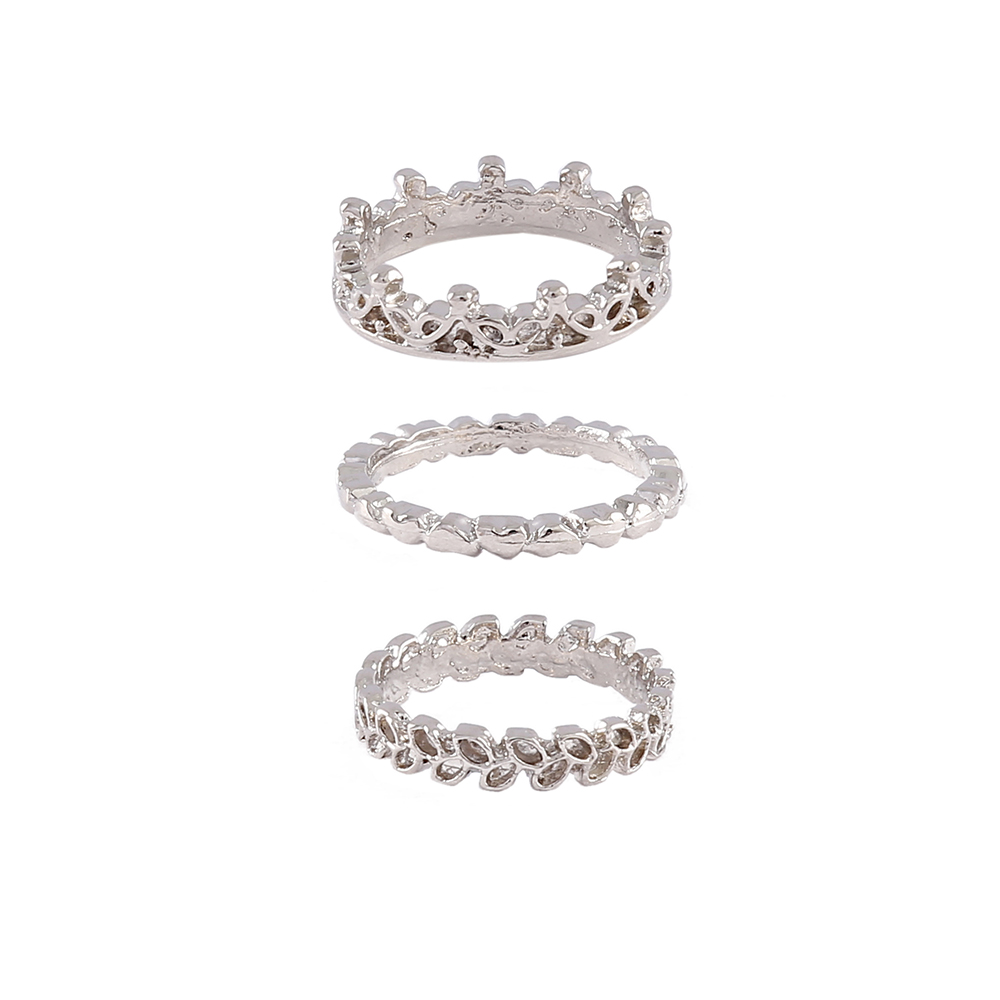 Kit Anéis Armazem RR Bijoux prata