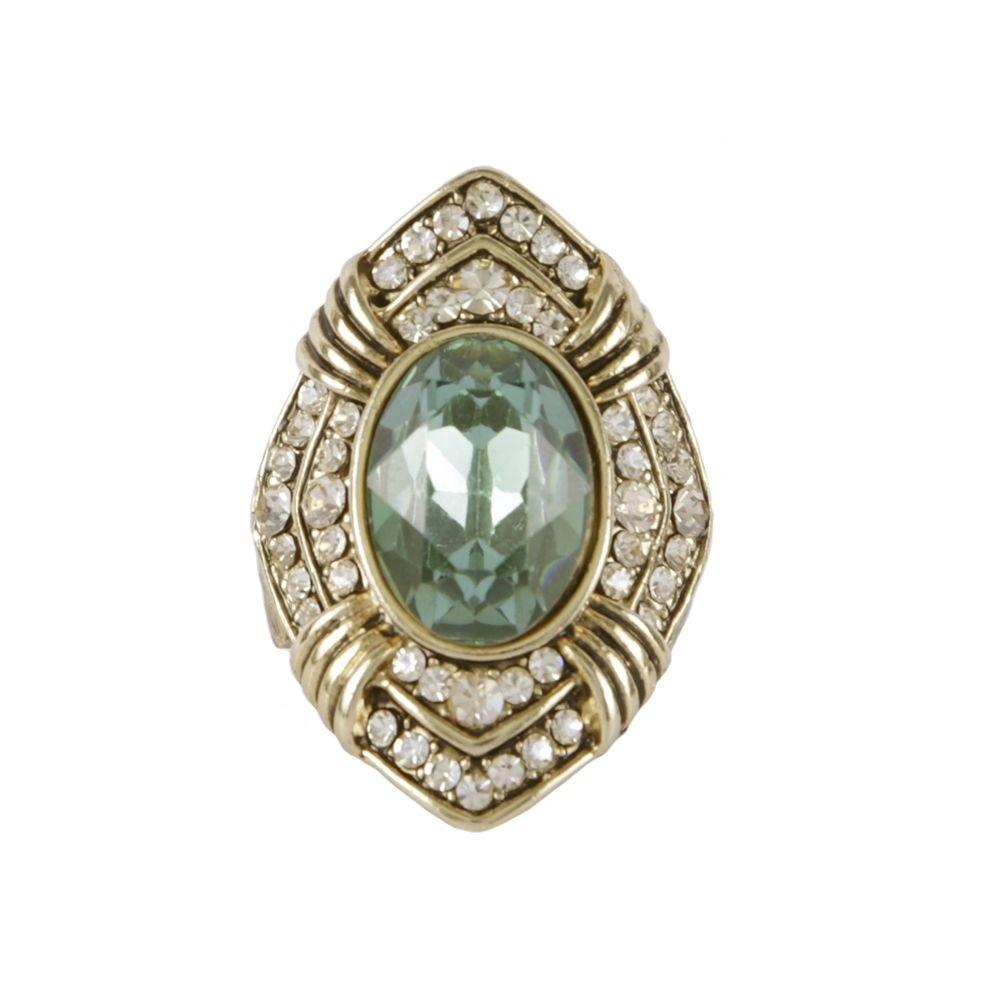 Maxi anel Armazem RR Bijoux pedra verde