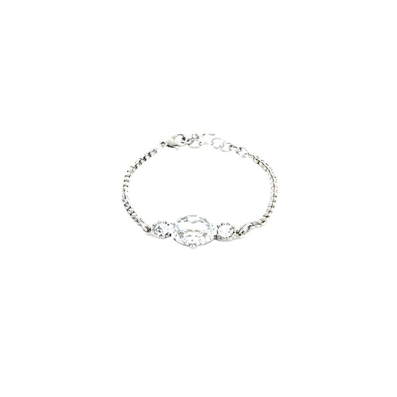 Pulseira Armazem RR Bijoux cristal prata